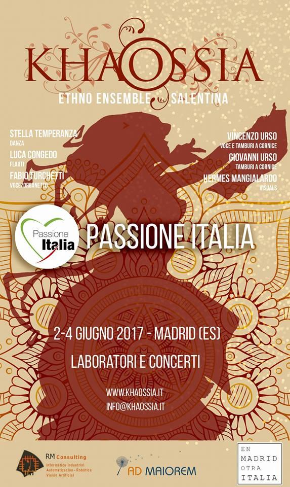 Khaossia a Madrid per Passione Italia 2017