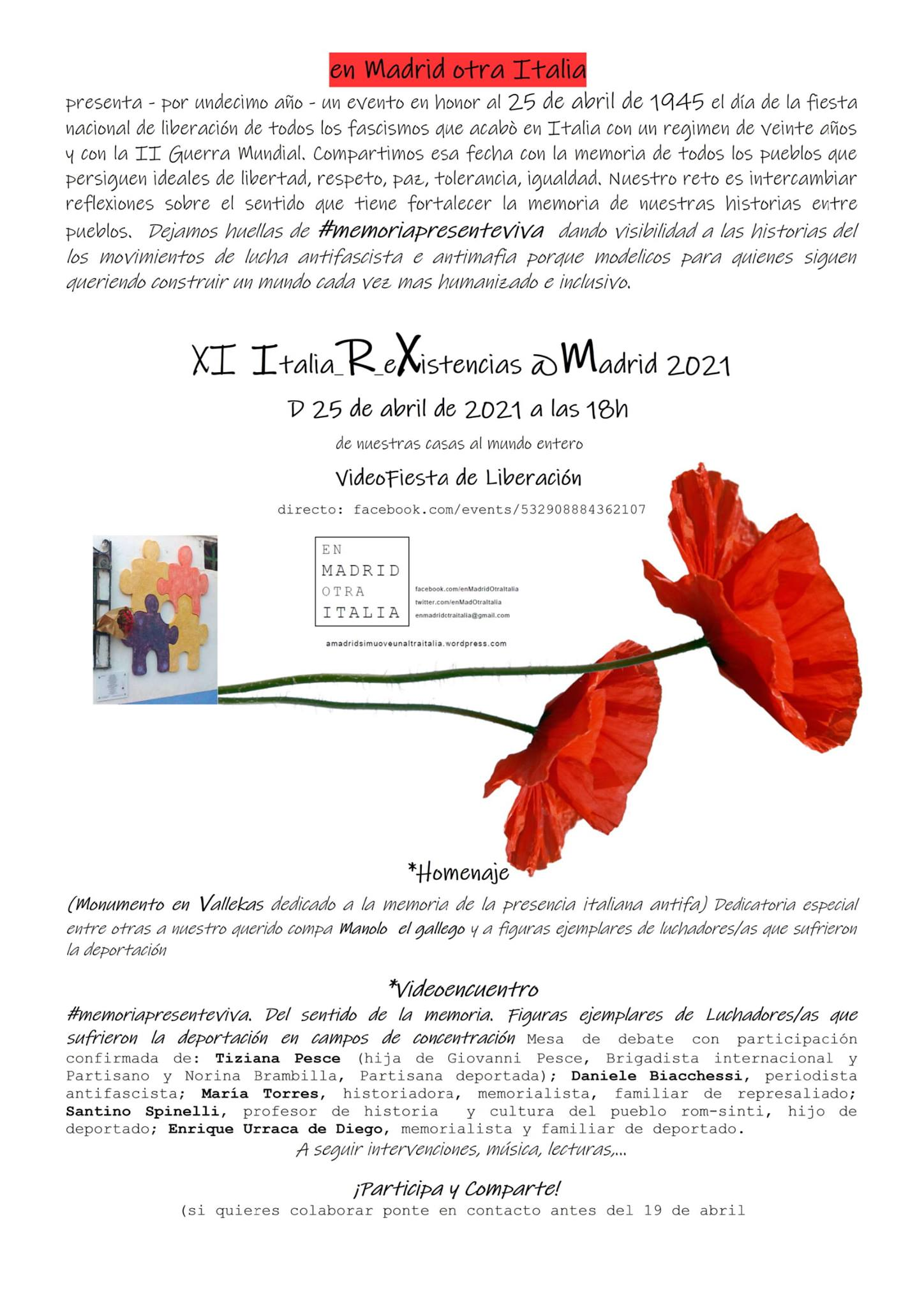 Khaossia e il 25 Aprile a Madrid